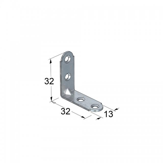 METAL CORNER 32x32x13 / GALVANIZED